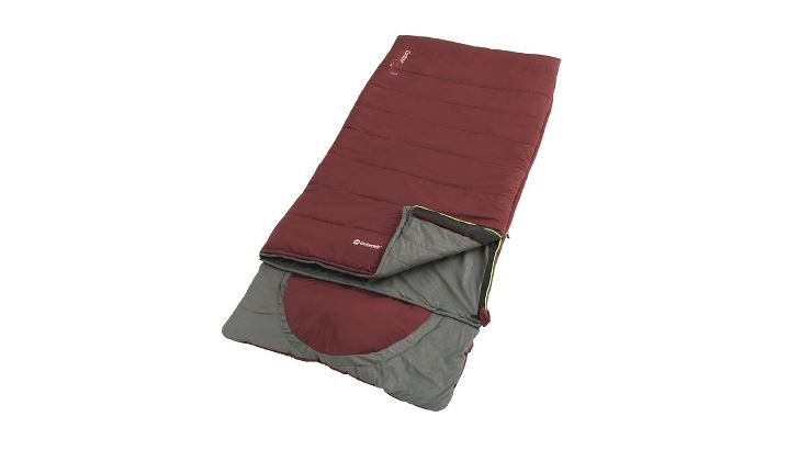 """Outwell - Contour Lux """"R"""" Sleeping Bag 2021 - Red (230383)"""