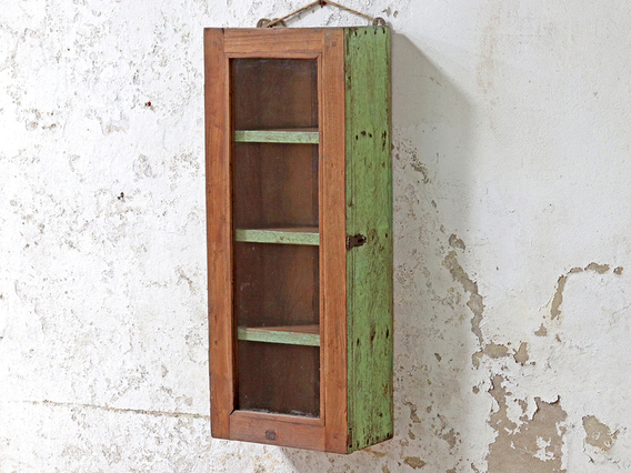 Wooden Display Cabinet Green