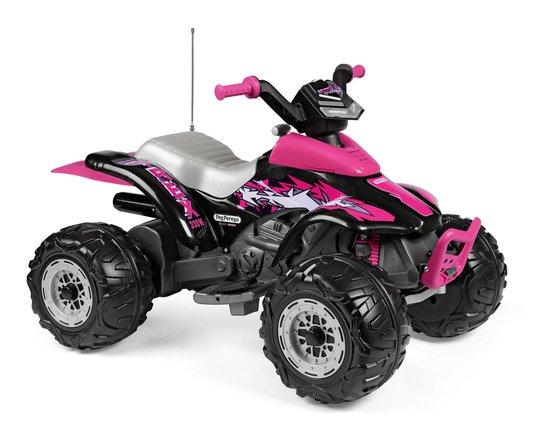 PegPérego Corral T-Rex Firhjuling 330W, Rosa/Svart