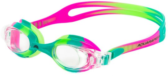 Aquarapid Swimkid Svømmebriller, Rosa/Grønn