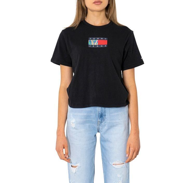 Tommy Hilfiger Jeans Women's T-Shirt Black 299894 - black XXS