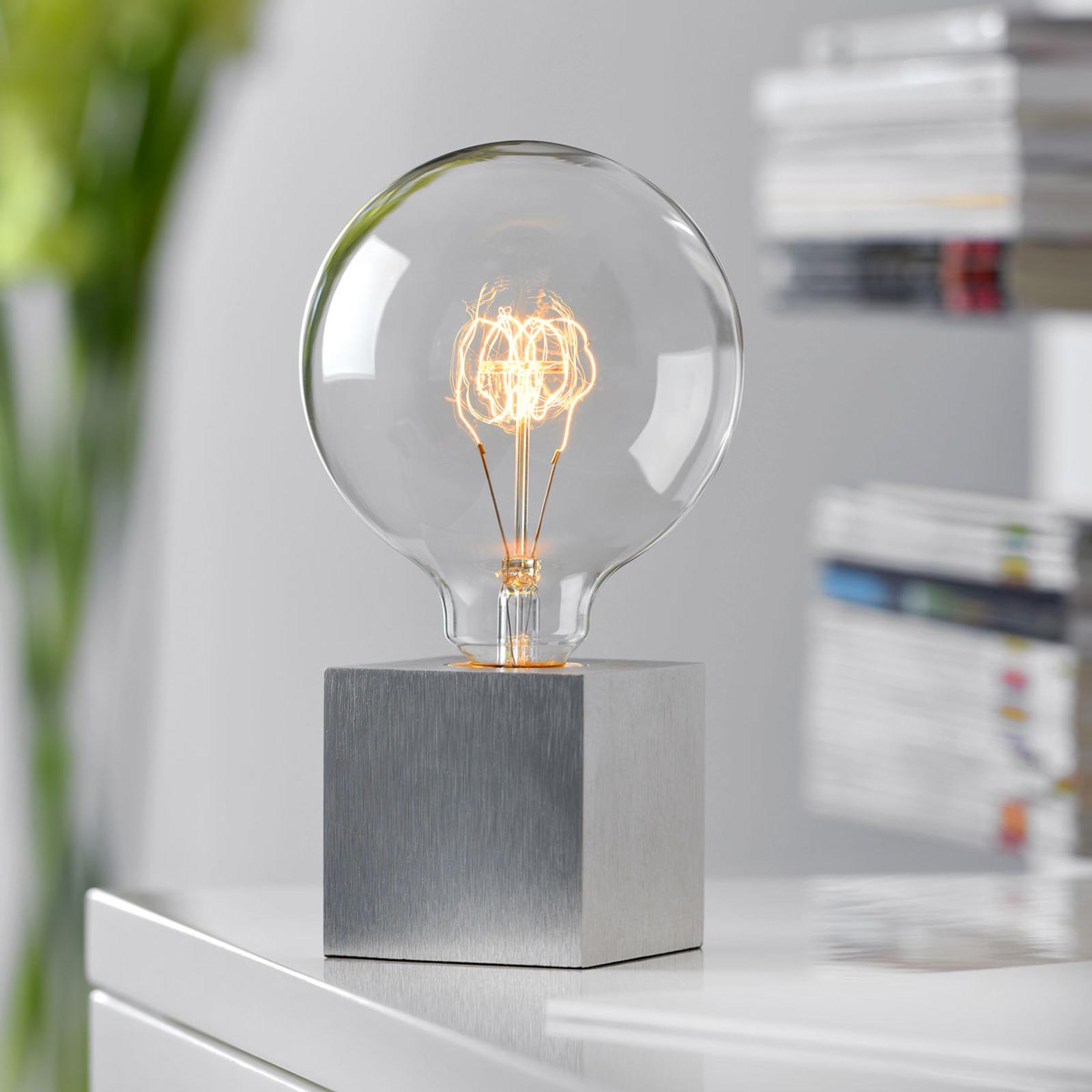 pöytälamppu Cubic, alumiiniväri