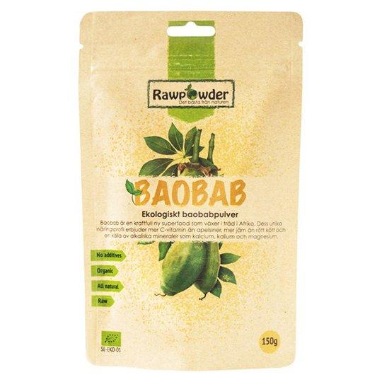 Rawpowder Ekologiskt Baobabpulver, 150 g