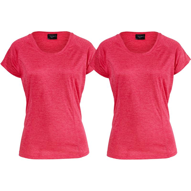 "T-shirt ""Athletic Fit Rouge Melange"" Large 2-pack - 70% rabatt"