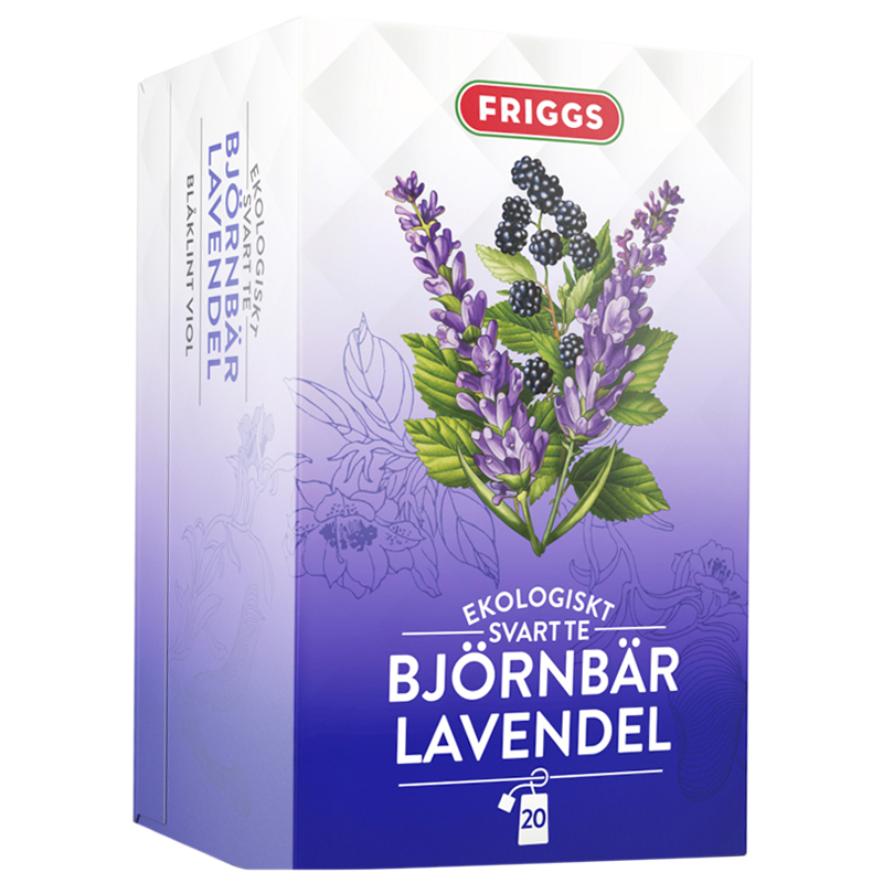 Eko Svart Te Björnbär & Lavendel 36g - 41% rabatt