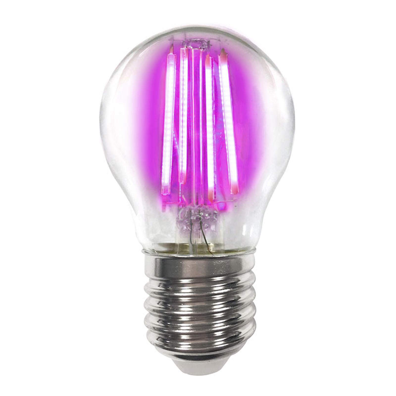 Värillinen E27 4W -LED-lamppu filament, pinkki