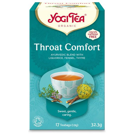 Yogi Tea Throat Comfort, 17 påsar