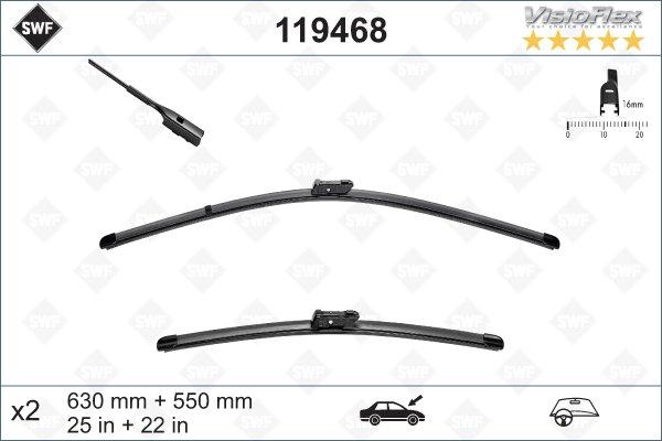Flatbladesats 630/550