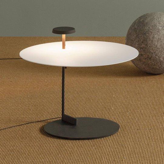Vibia Flat LED-gulvlampe 43 cm hvit, dimbar