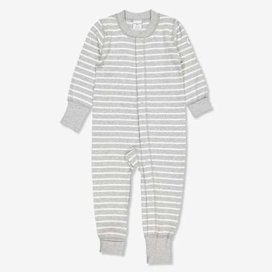 Stripet dress nyfødt gråmelange