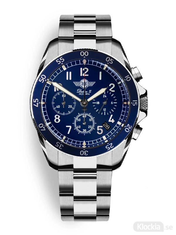 MALM Dalton 2 Blue Chronograph 41 Bracelet MW-DAII39BLUESWAF-LTD-B - Herrklocka