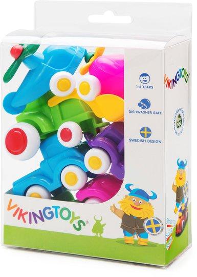 Viking Toys Miniknubbisar Småbiler 7-pack Pastell