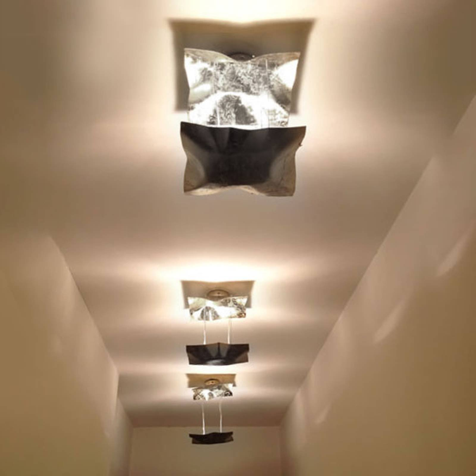 Knikerboker Piccola Crash taklampe sølvblad