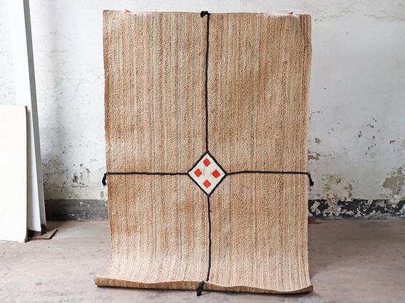Bohemian Large Handwoven Natural Rug 240 x 150 - Diamond Extra Large