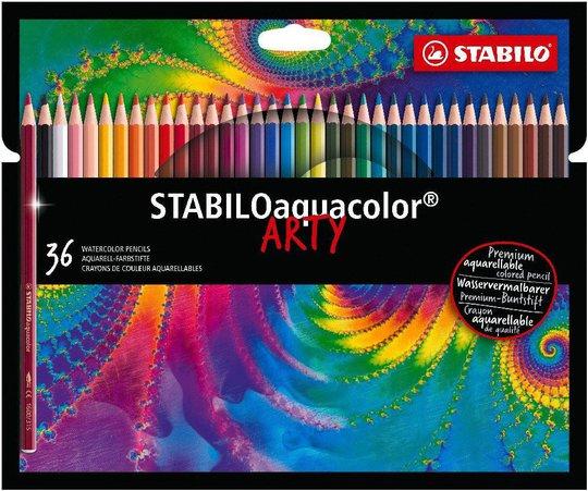 STABILO Aquacolo Akvarellpenner 36-pack & Skisseblokk