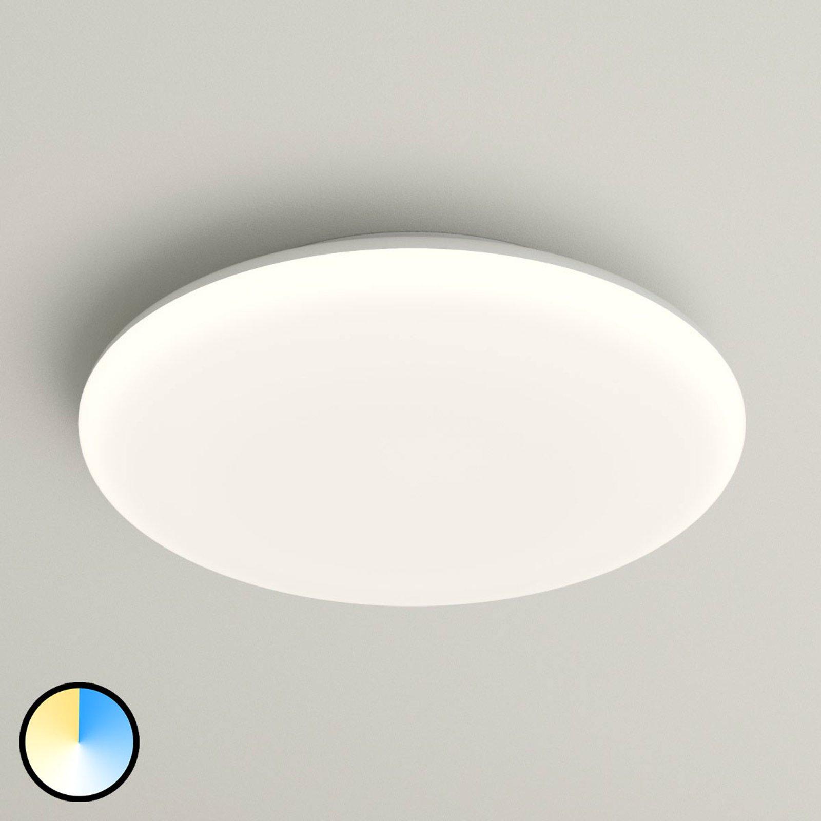 LED-taklampe Azra, hvit, rund IP54, 30 cm diameter
