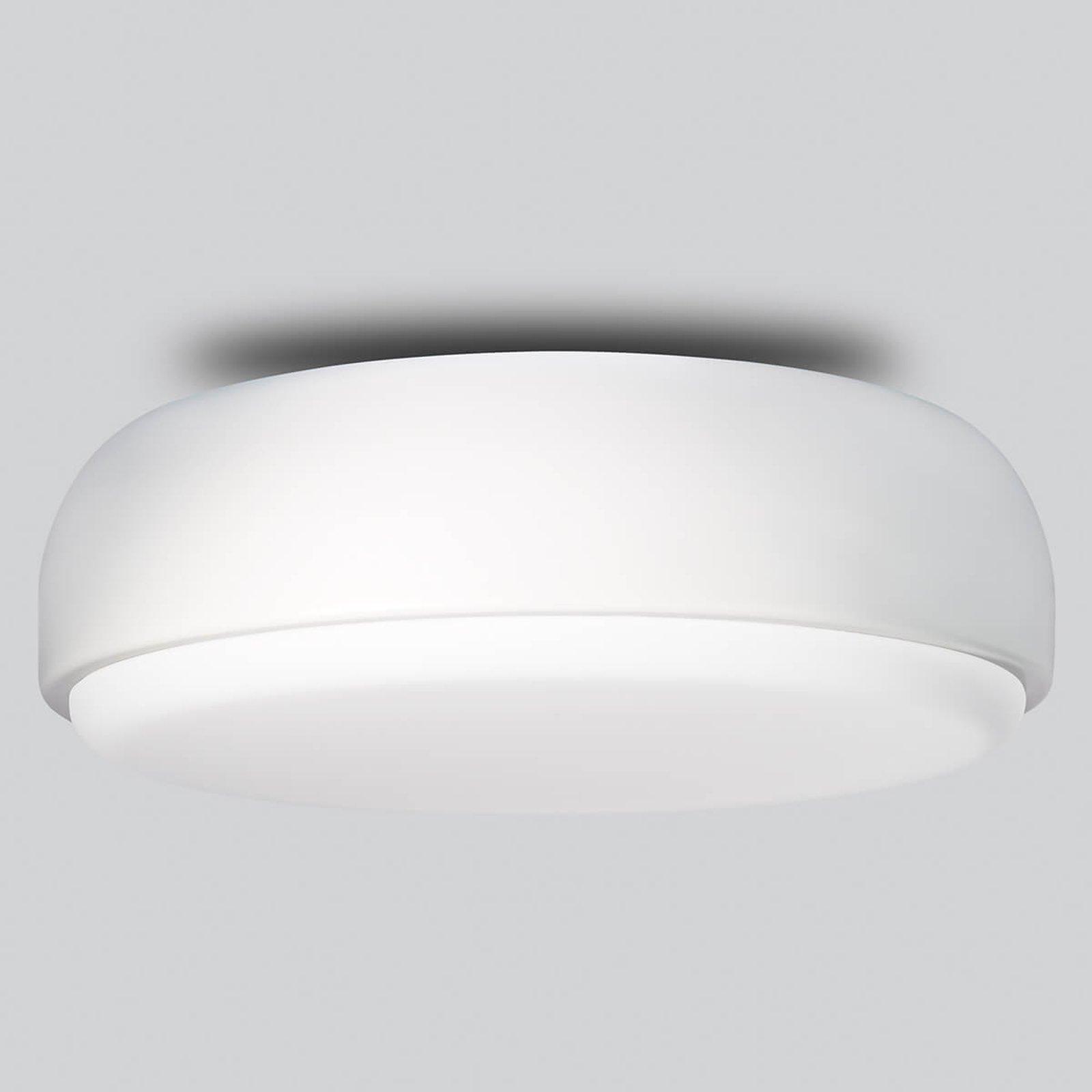 Hvit designertaklampe Over Me, 40 cm