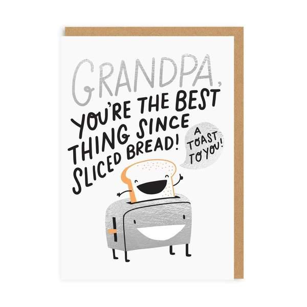 Grandpa Sliced Bread Greeting Card