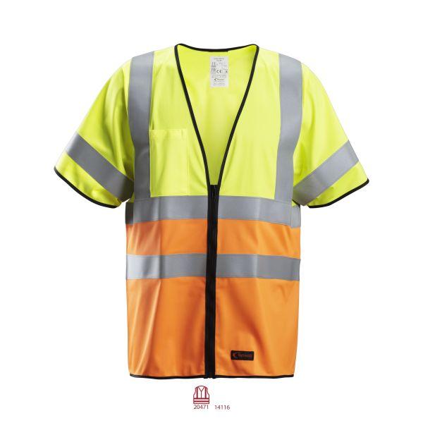 Snickers 4361 ProtecWork Huomioliivi huomioväri, keltainen/oranssi S