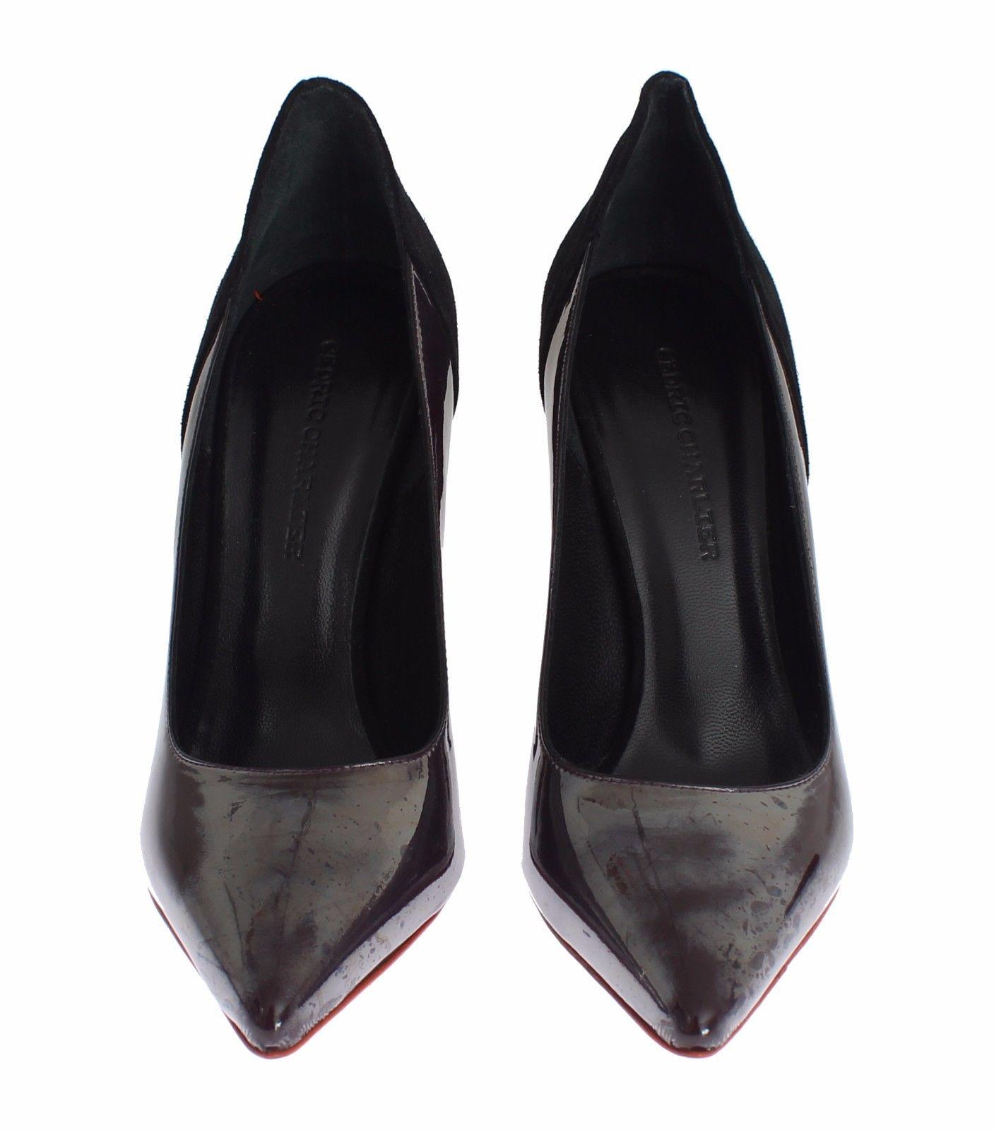 Cédric Charlier Women's Leather Suede Pumps Gray MOM26010 - EU41/US10.5