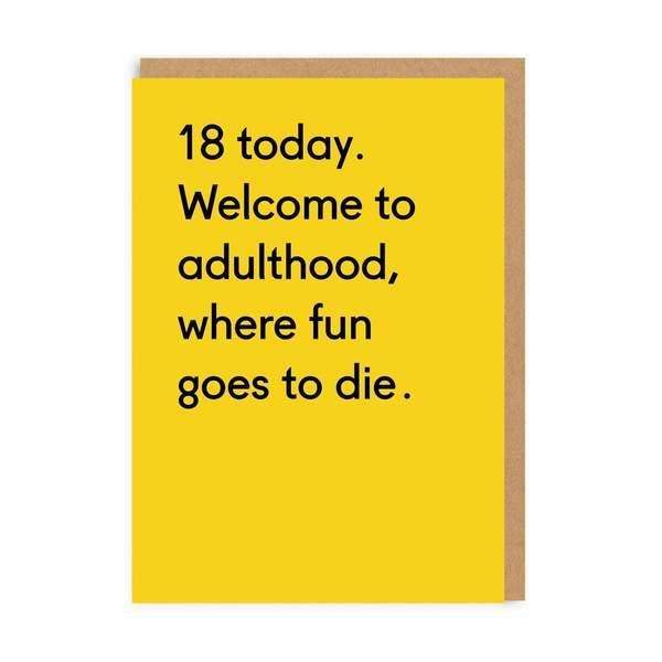 18 Today Birthday Greeting Card
