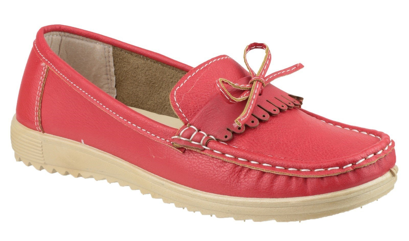 Fleet & Foster Women's Elba Loafer Various Colours 20939-33260 - Red 3