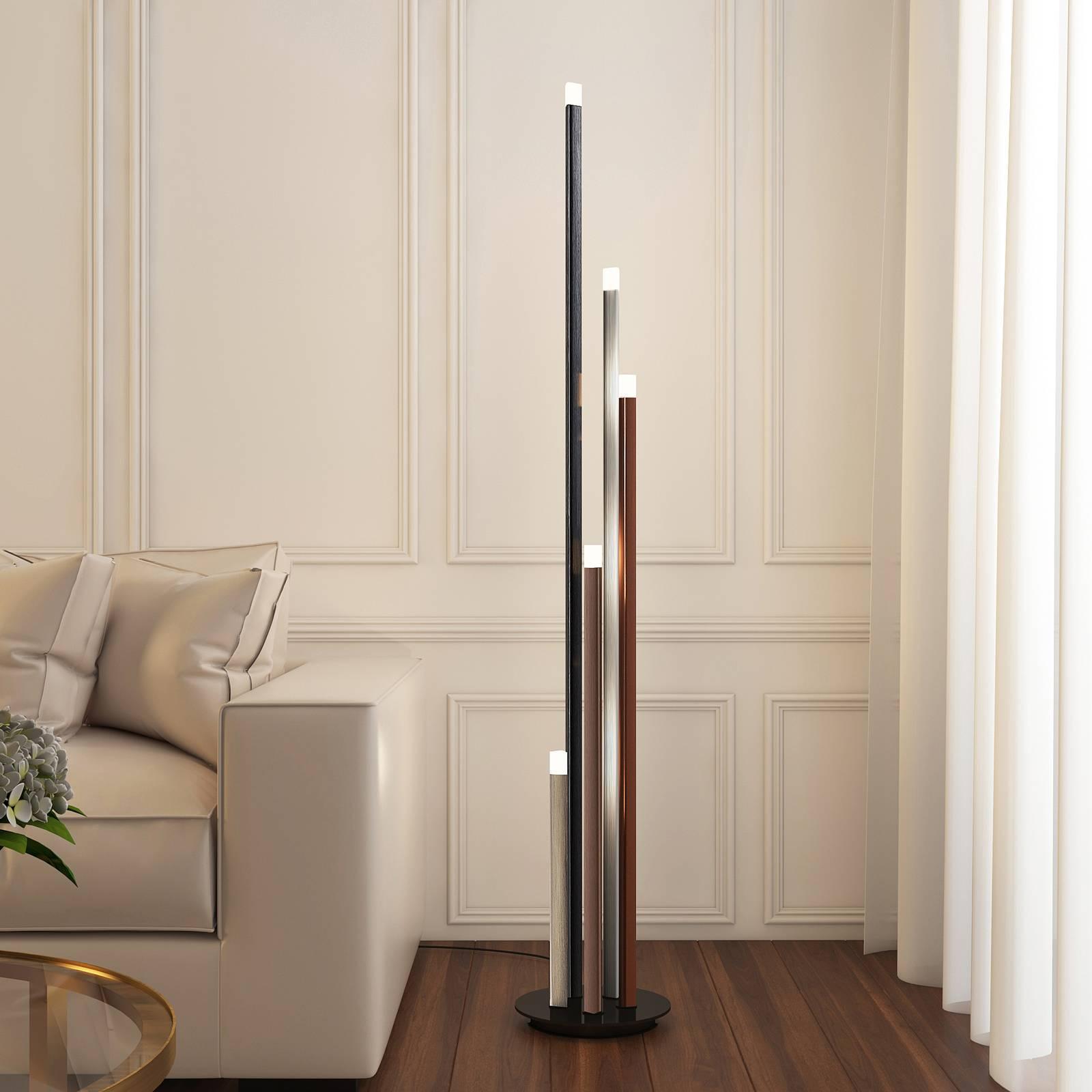 Lucande Stoika -LED-lattiavalaisin