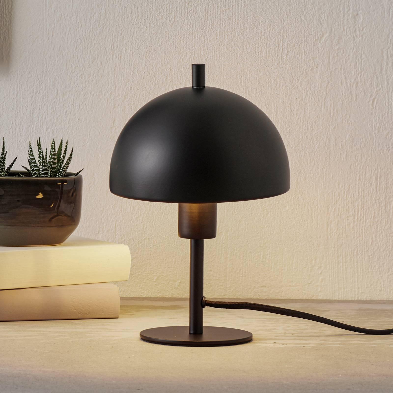 Schöner Wohnen Kia -pöytälamppu, musta, 24 cm