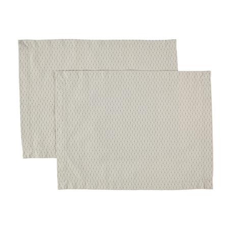 Bordstablett Topas 2-pack 45x35 cm - Vintageblå
