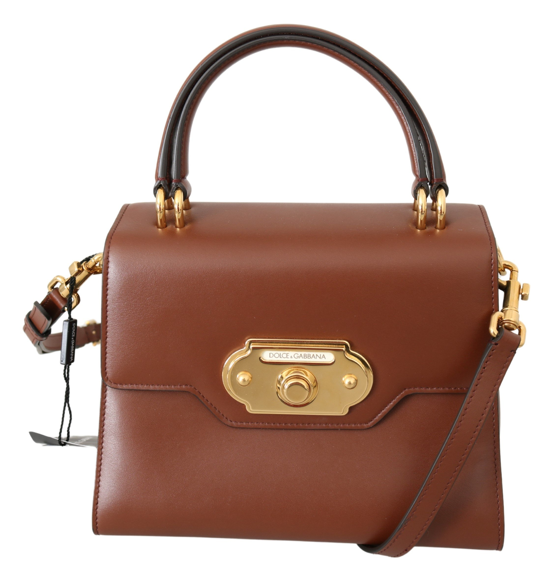 Dolce & Gabbana Women's Leather WELCOME Crossbody Bag Brown VAS9960