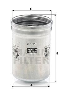 Öljynsuodatin MANN-FILTER W 1022