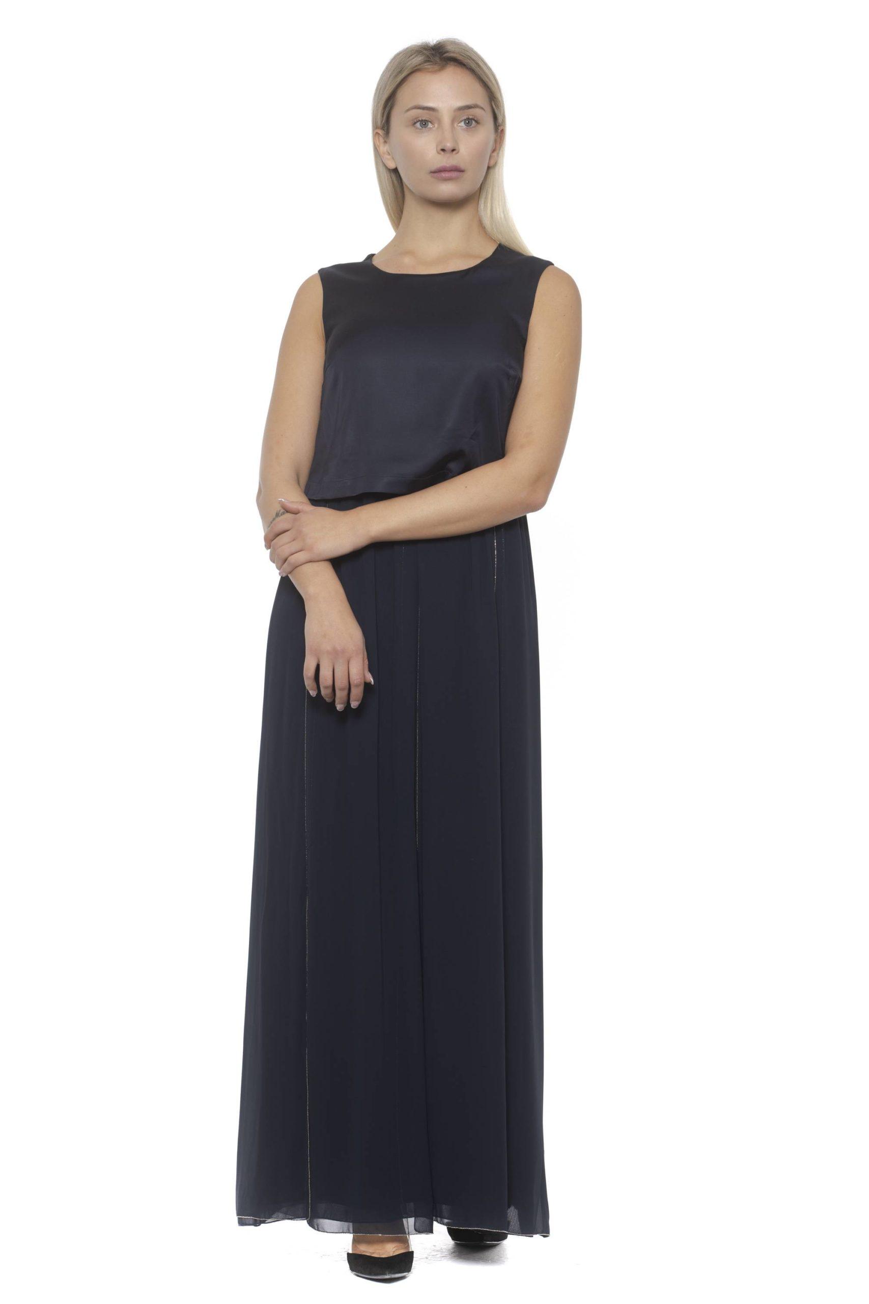 Peserico Women's Ablu Dress Blue PE1381843 - IT42   S