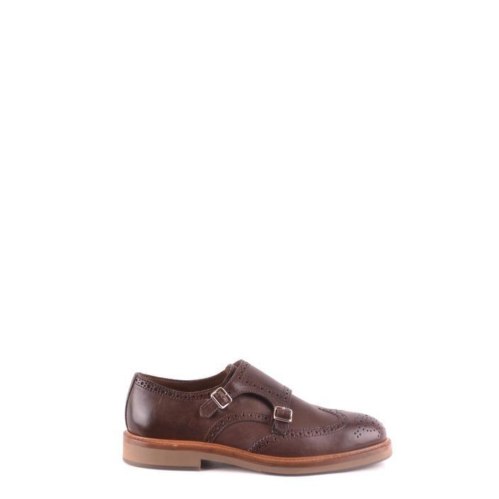 Brunello Cucinelli Men's Slip on Monk Shoe Brown 163162 - brown 42