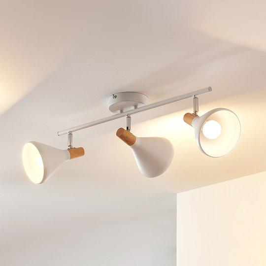 Arina - med 3 lyskilder, hvit LED-taklampe