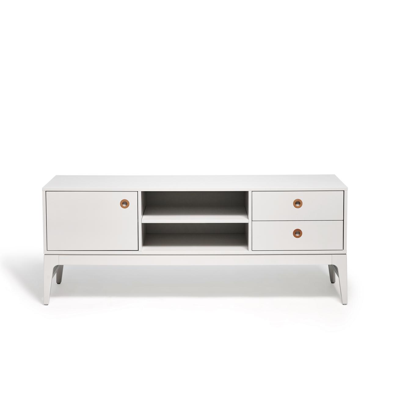 Höllviken TV-bänk 150 cm ljusgrå, Mavis