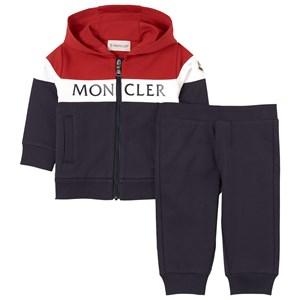 Moncler Color Block Branded Träningsställ Marinblått 18-24 mån