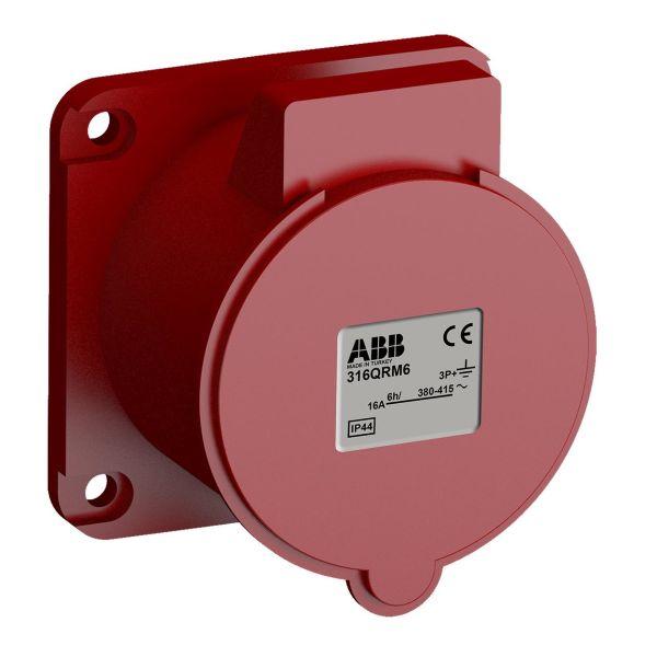 ABB 2CMA102307R1000 Paneluttak hurtigtilkoblet, vibrasjonsbestandig Rett, 4-polet, 16 A, 56x56 mm