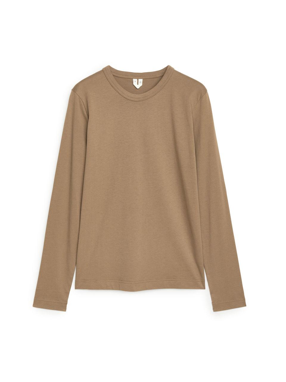 Long-Sleeved T-Shirt - Beige