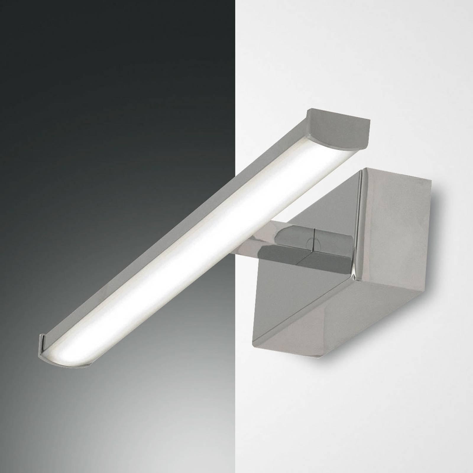 LED-vegglampe Nala, krom, bredde 30 cm