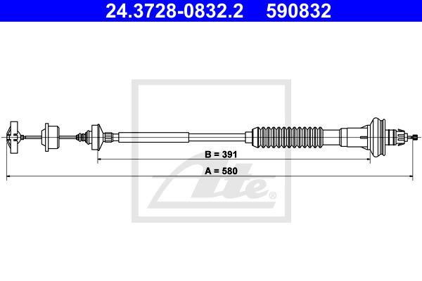 Kytkinvaijeri ATE 24.3728-0832.2