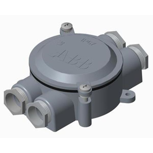 ABB 2CMA136544R1000 Kevytmetallikotelo alumiini, kierre 22,5 2 oikealle, 2 vasemmalle, 90 nm