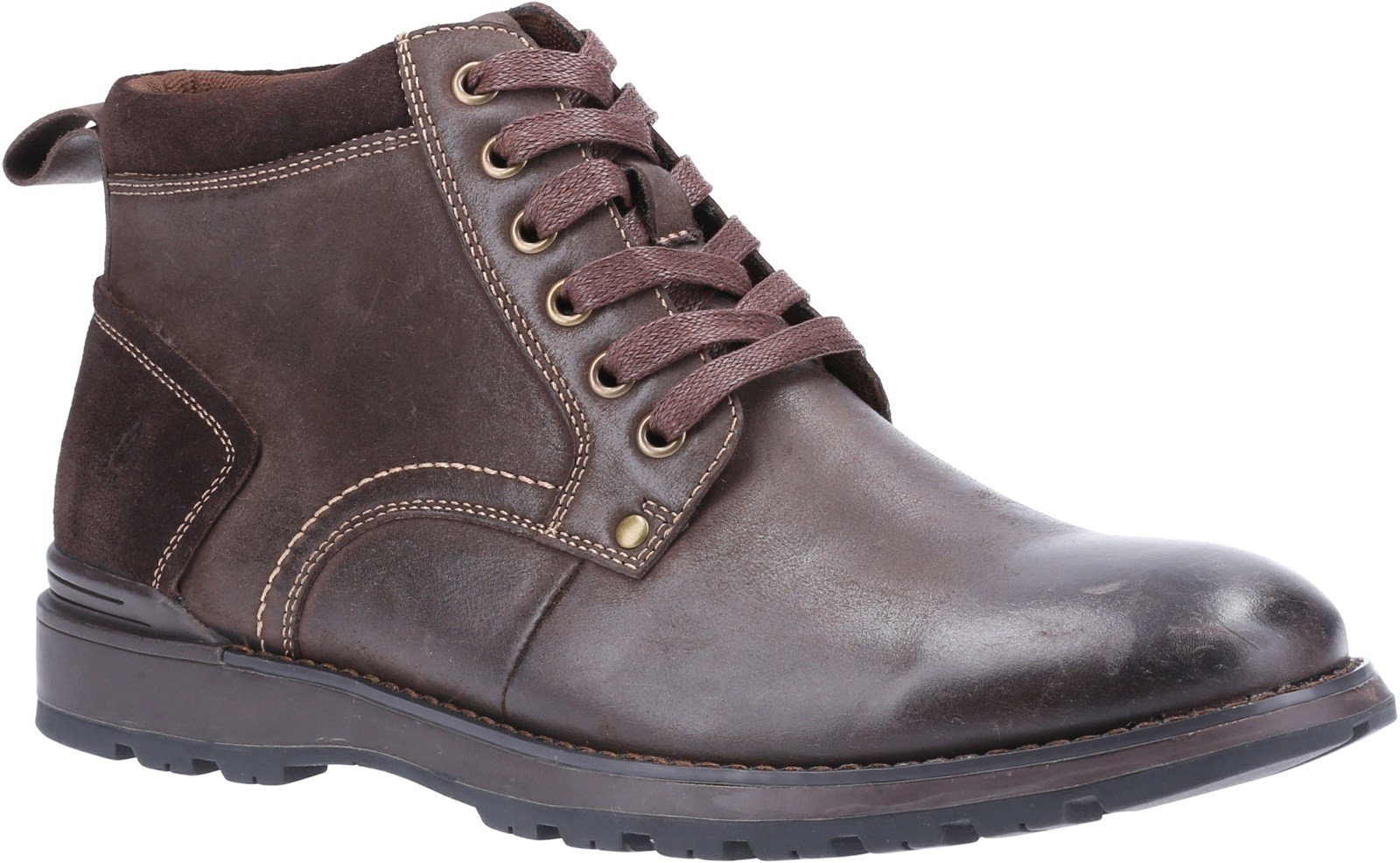 Hush Puppies Men's Dean Lace Up Boot Various Colours 31281 - Brown 6