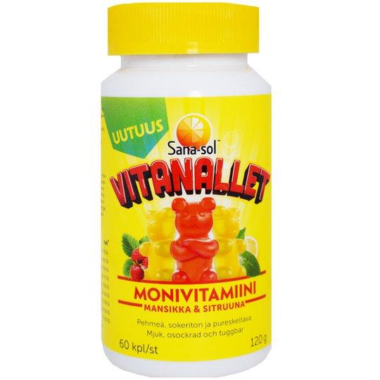 """Monivitamiinilisä """"Vitanallet"""" 120g - 20% alennus"""