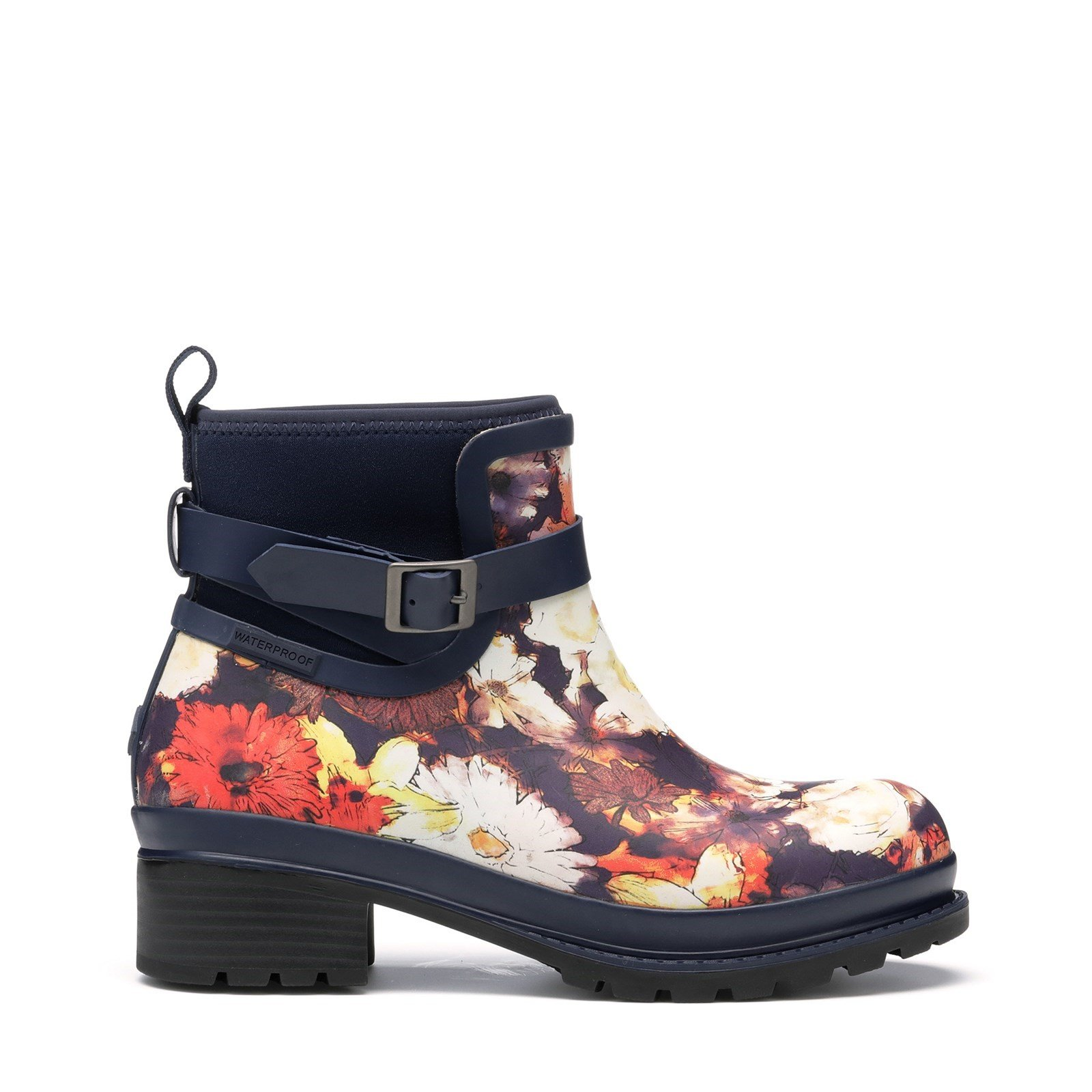 Muck Boots Women's Liberty Rubber Ankle Boots Various Colours 31816 - Navy Floral Print 4