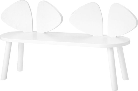 Nofred Mouse Benk, White