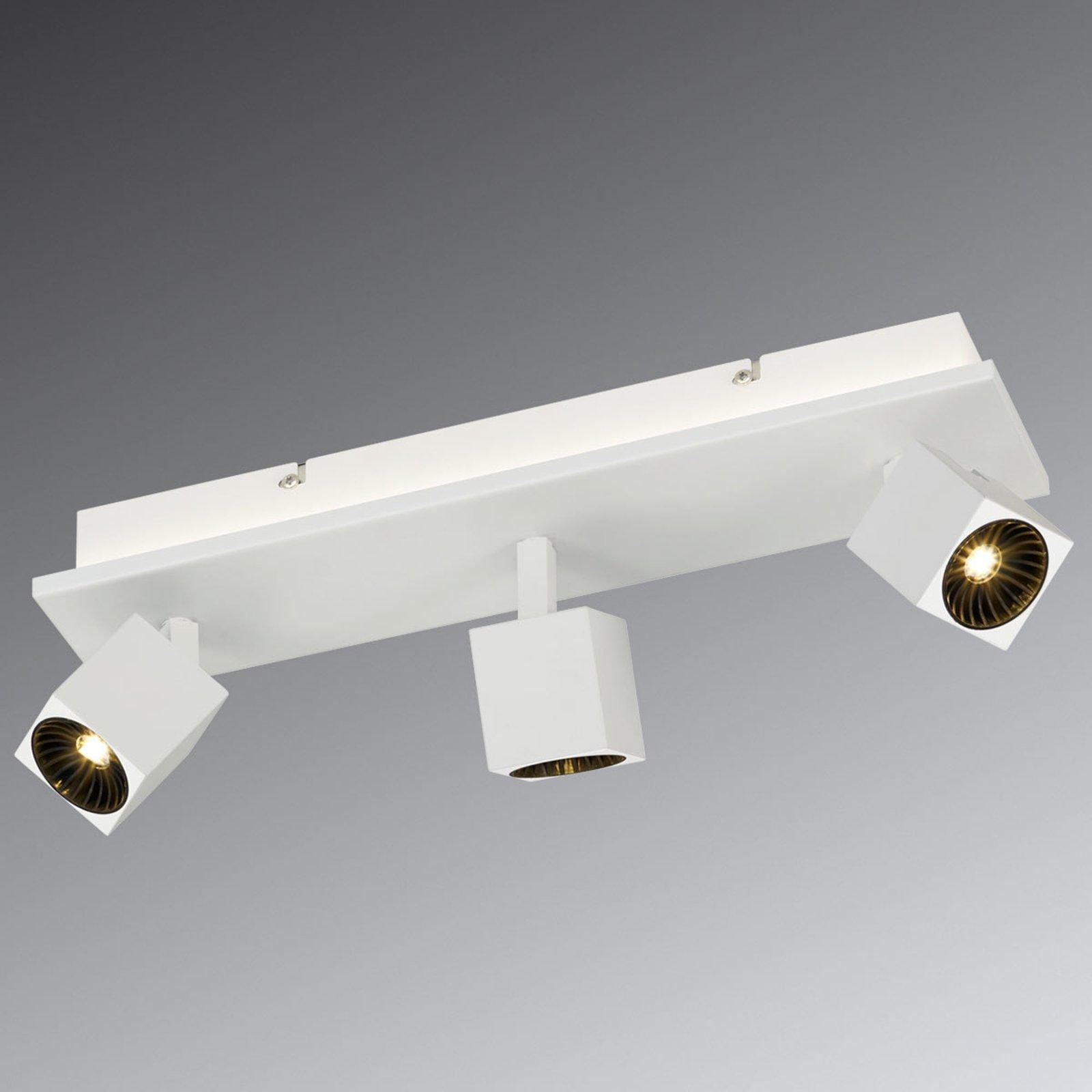 Hvit LED-taklampe Cuba med ORSAM-LEDs, 3 lyskilder