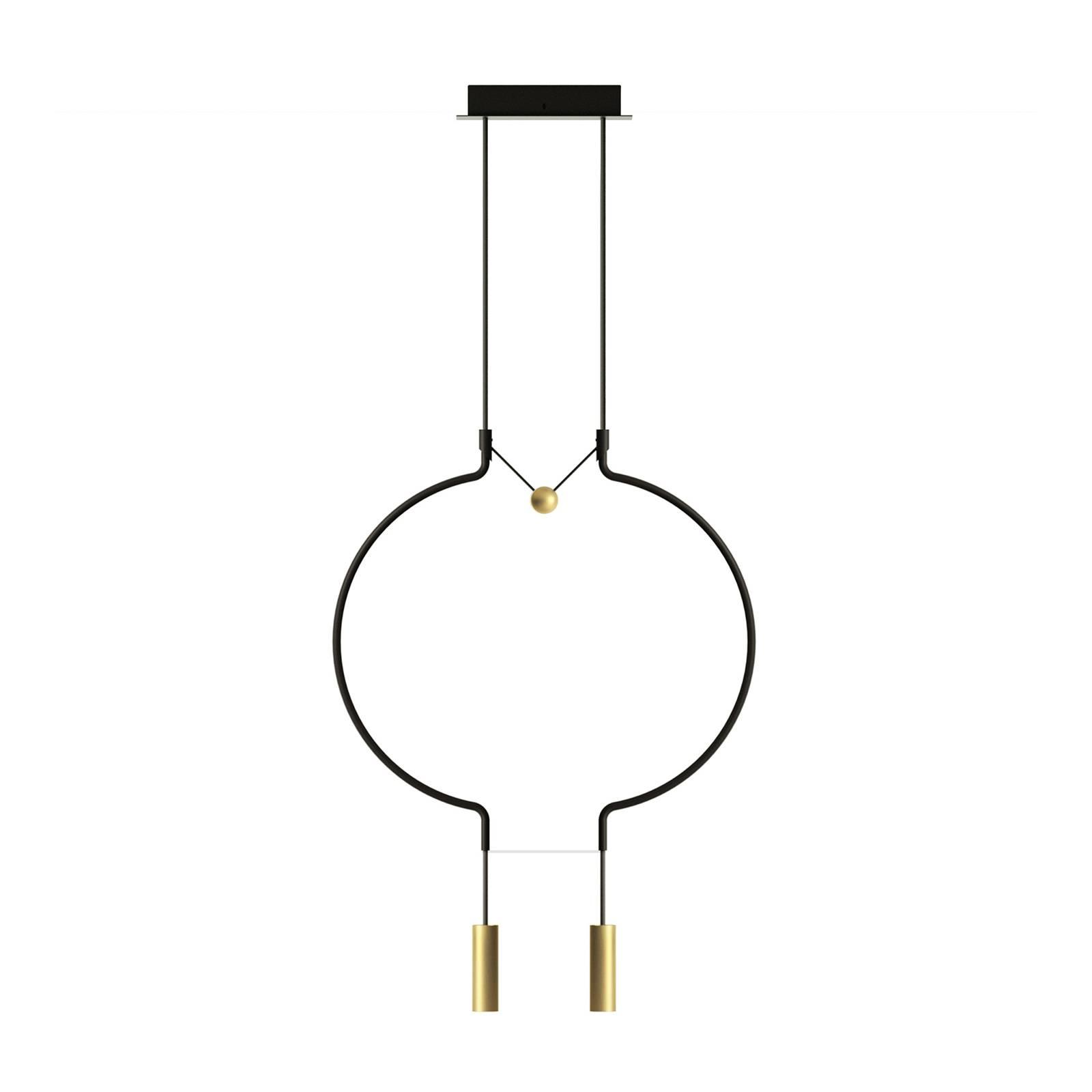 Axolight Liaison P2 riippuvalo musta/kulta 56cm