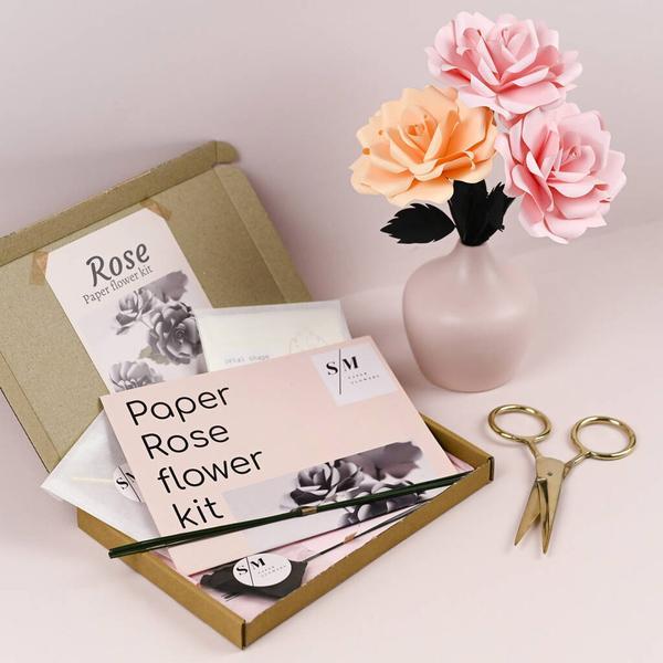 Rose Paper Flower Craft Kit