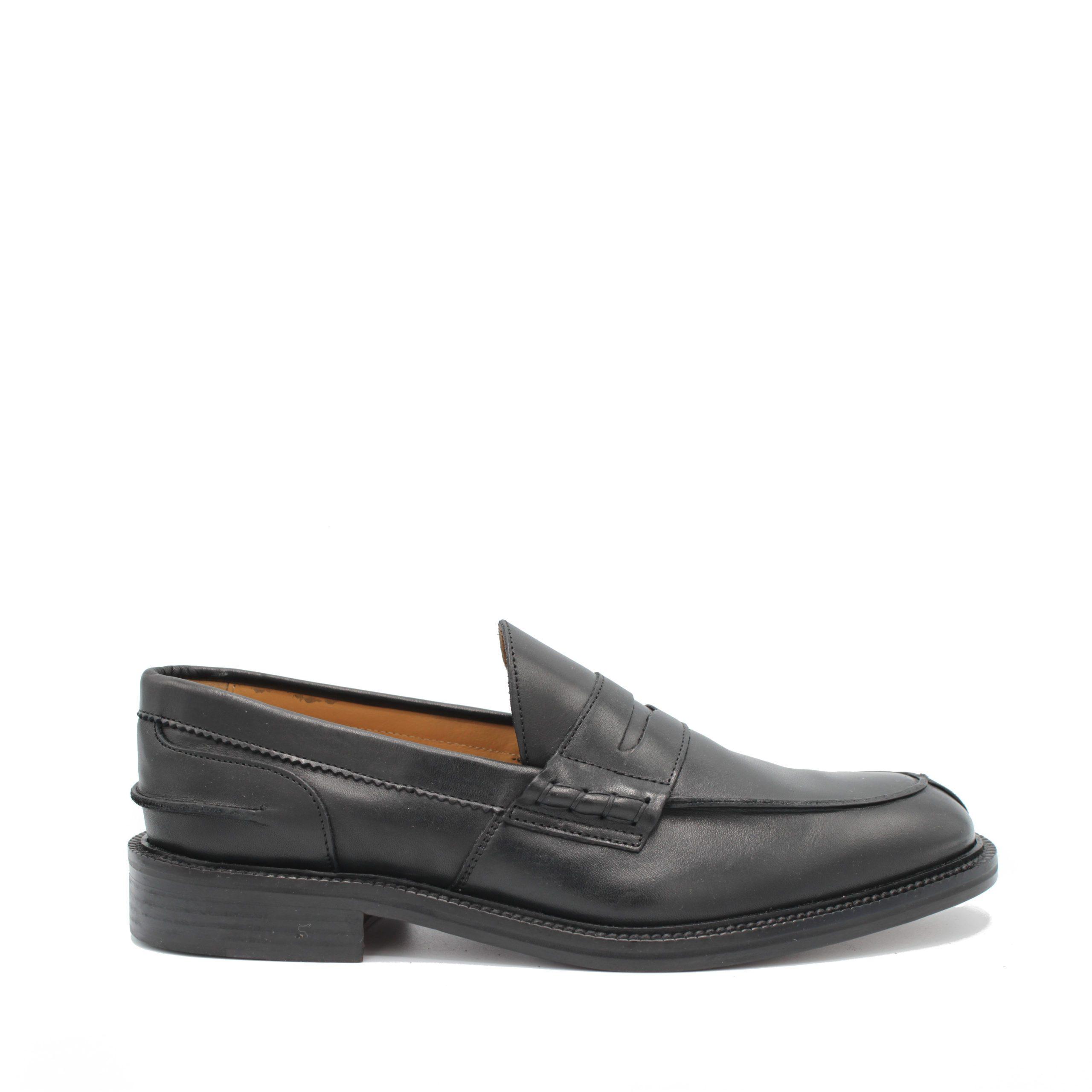 Saxone of Scotland Men's Calf Leather Loafer Black 030_Black - EU40.5/US7.5