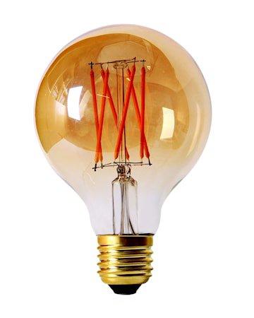 Elect LED Filament Globe Gold 80mm